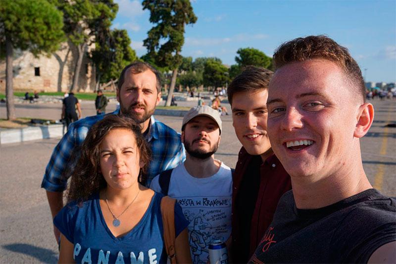 Una francesa, dos checos, un polaco y un español en Tesalónica