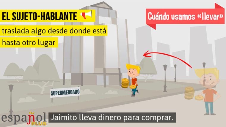 Uso de «llevar»: Jaimito lleva dinero para comprar